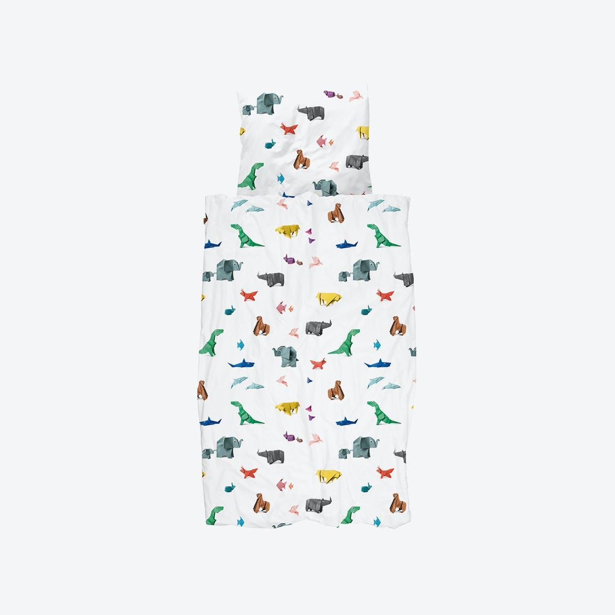 Paper Zoo Duvet Cover & Pillowcase Set