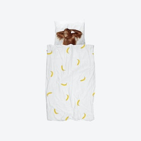 Banana Monkey Duvet Cover & Pillowcase Set