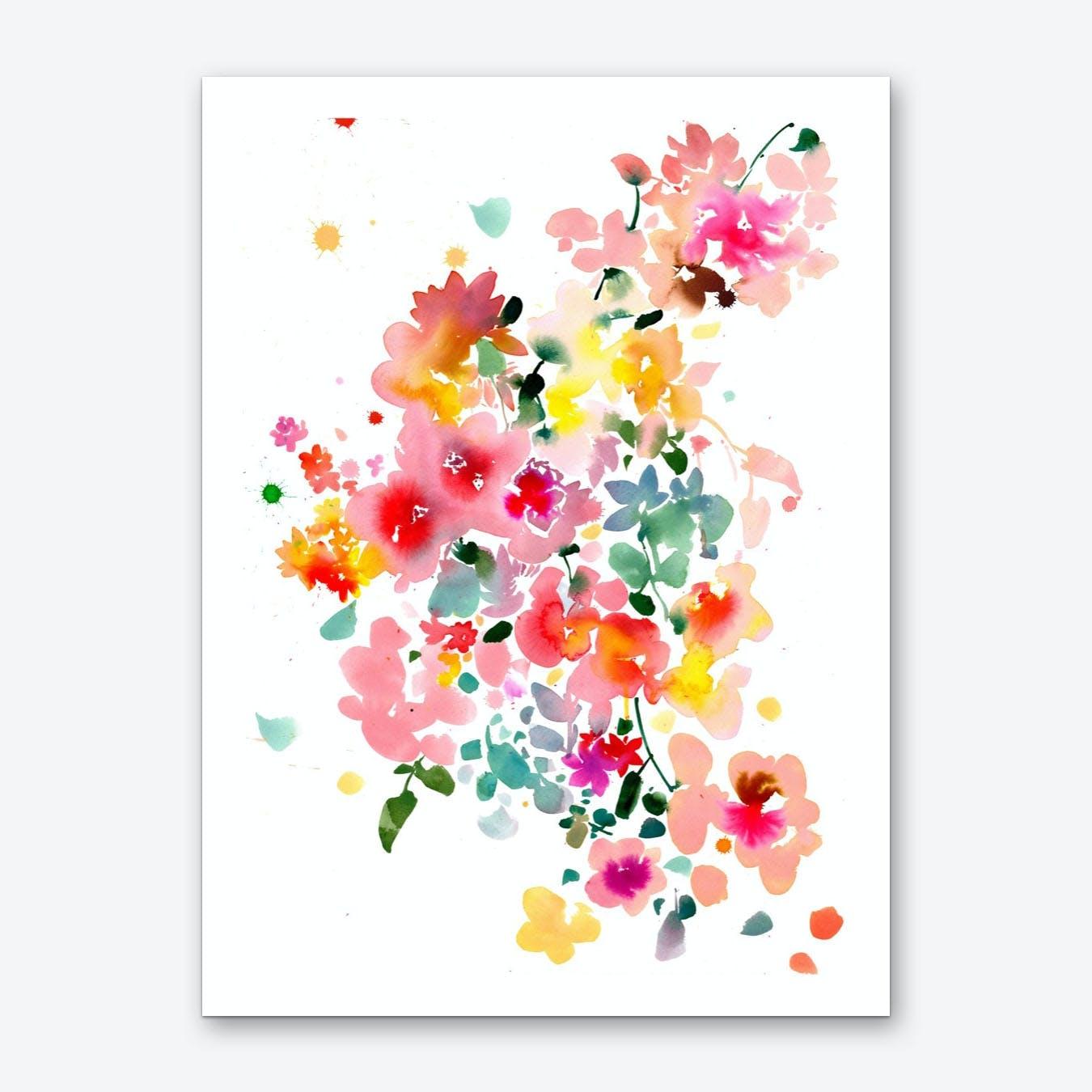 Floral bustle Art Print