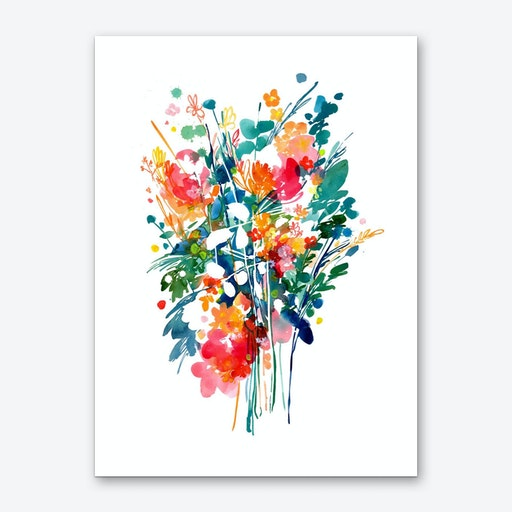 Big Bouquet Art Print