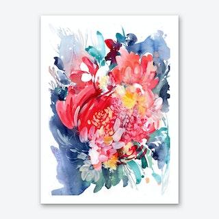 Floral Hug Art Print