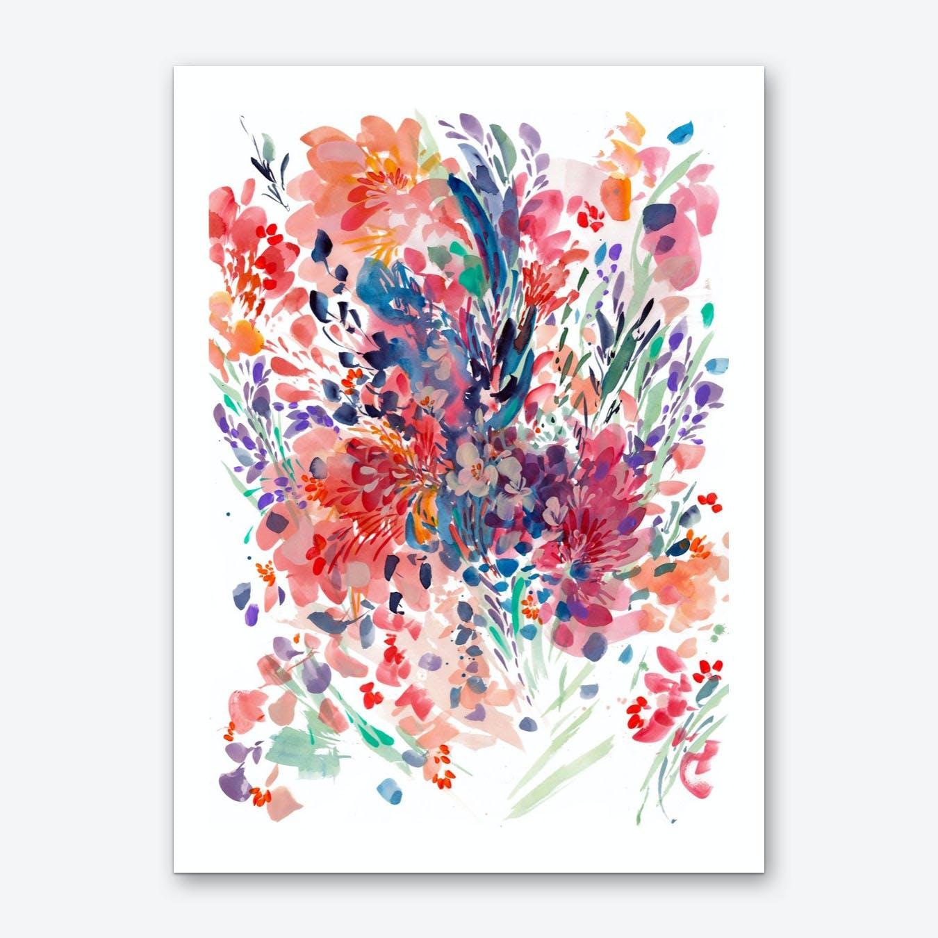 Drama Bouqet Art Print