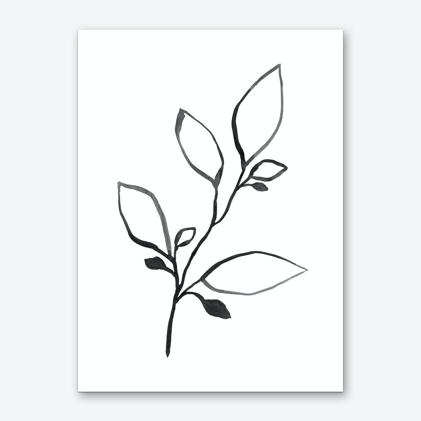 Ink Plant 1 Art Print