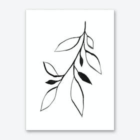 Ink Plant 2 Art Print