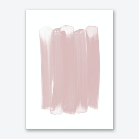 Pink Strokes Art Print