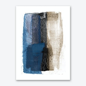 Blue On Black Art Print