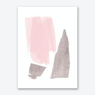Pink Grey Art Print