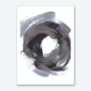 Circular Strokes Art Print
