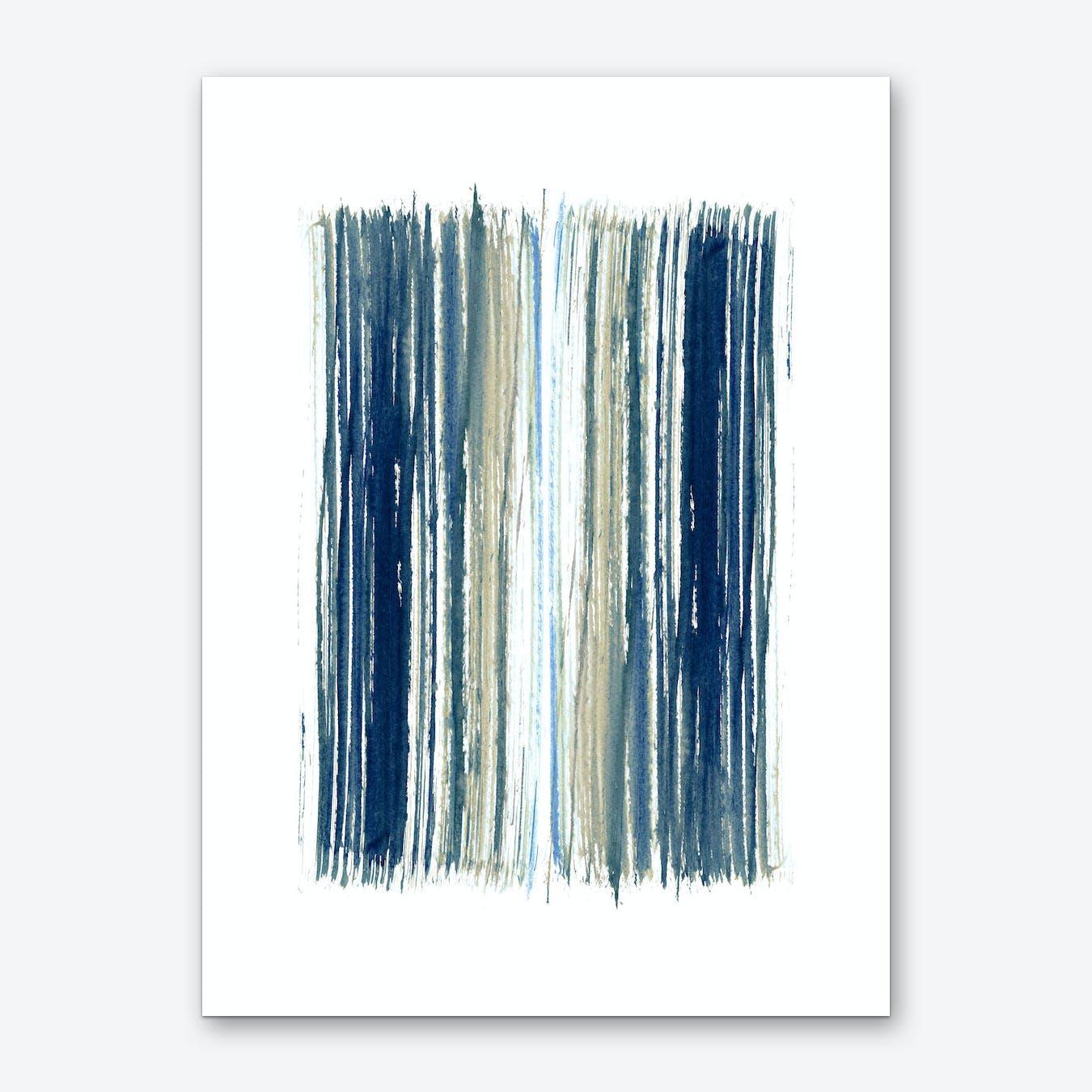 Indigo Stripes Art Print