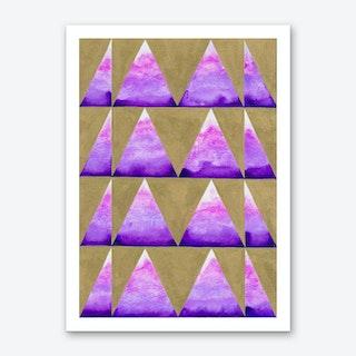 Pink Mountaintop Art Print