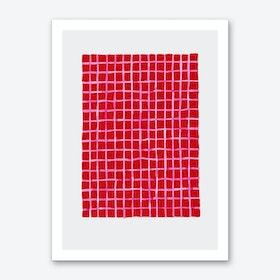 Red Blanket Art Print