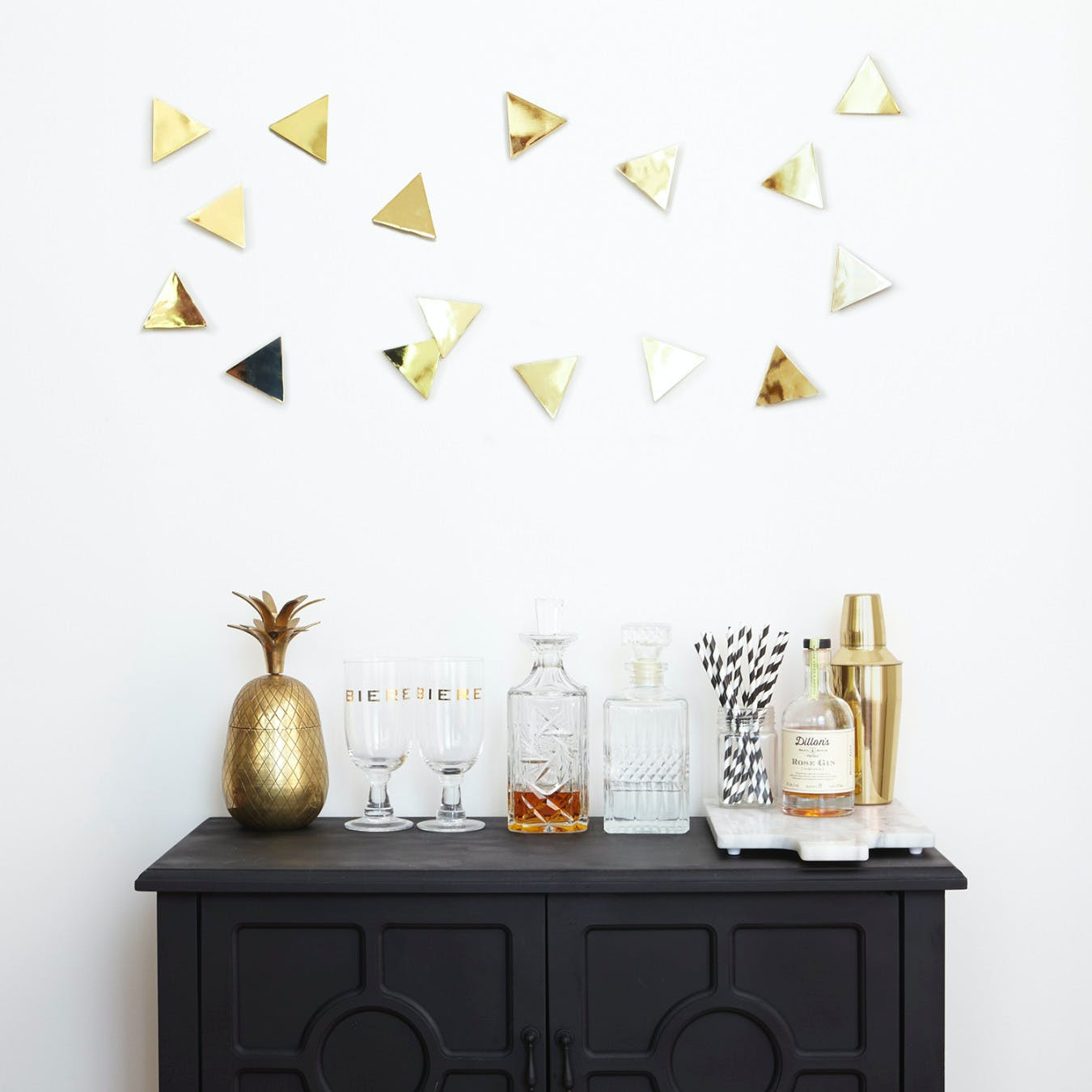 Confetti Triangles in Brass (Set of 16)