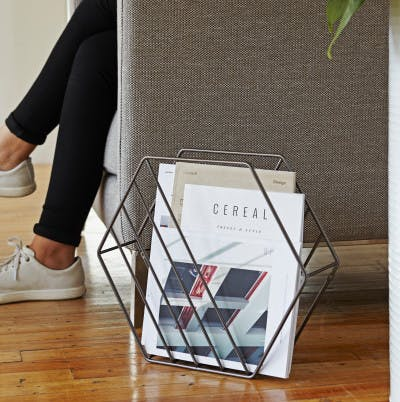 Zina Magazine Rack & Record Holder