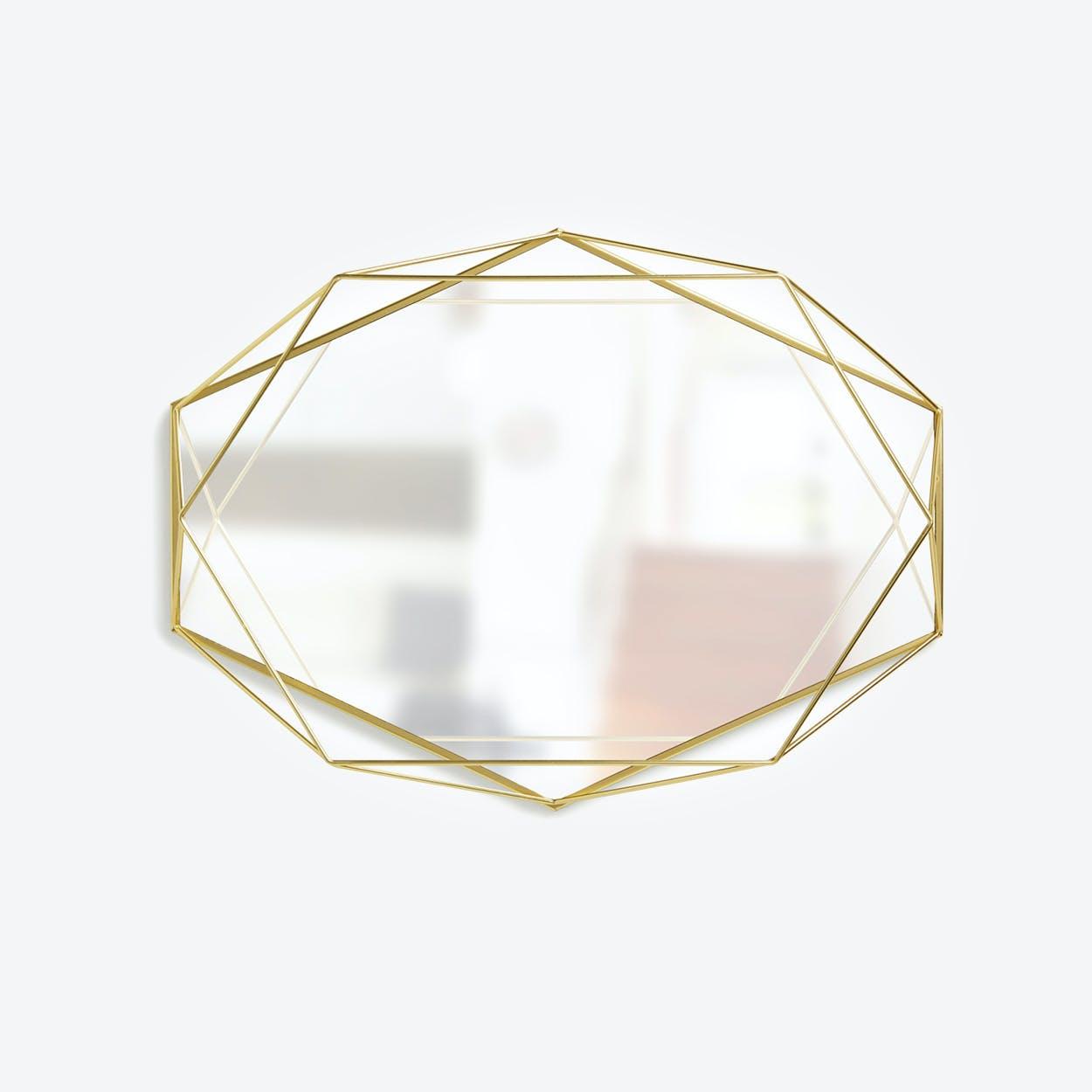 Prisma Mirror Clear Brass
