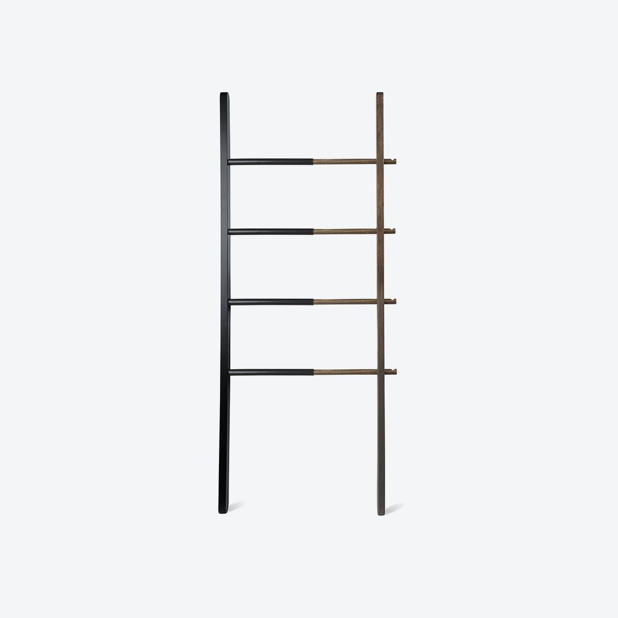 Hub Ladder Rack in Black/ Walnut
