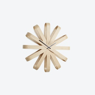 Ribbonwood Wall Clock 51.4cm Natural