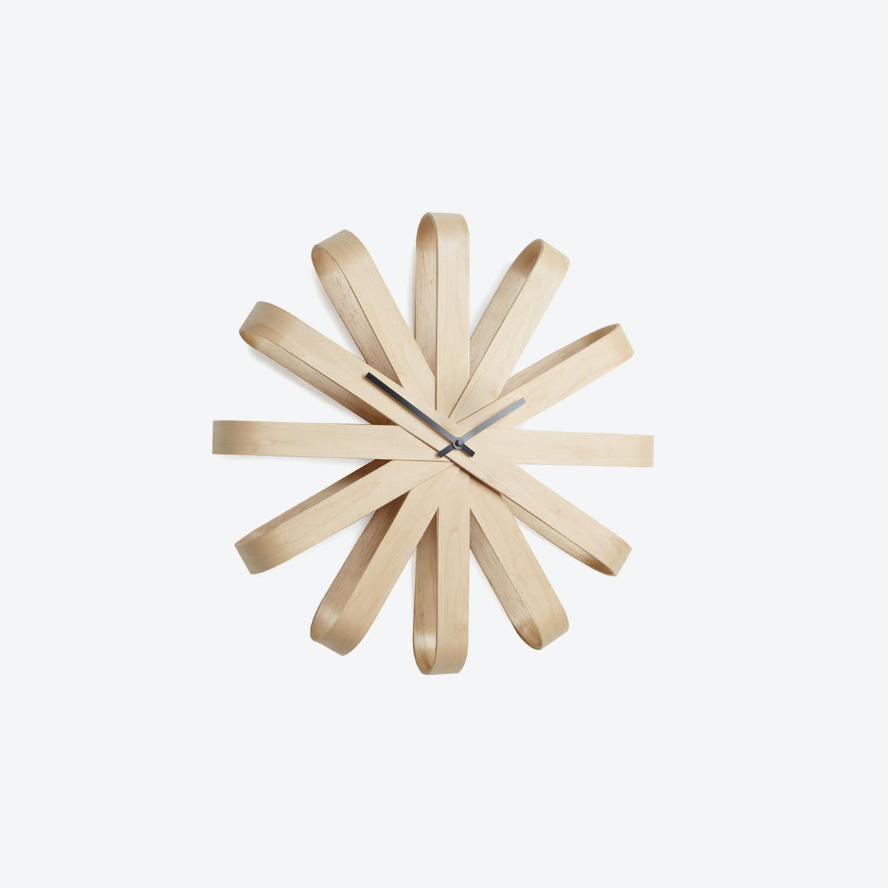 Ribbonwood Wall Clock 51.4cm Natural