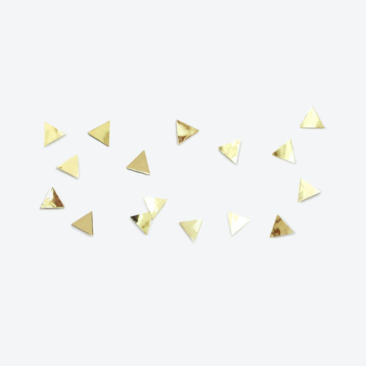 Confetti Triangles in Brass (Set of 16)