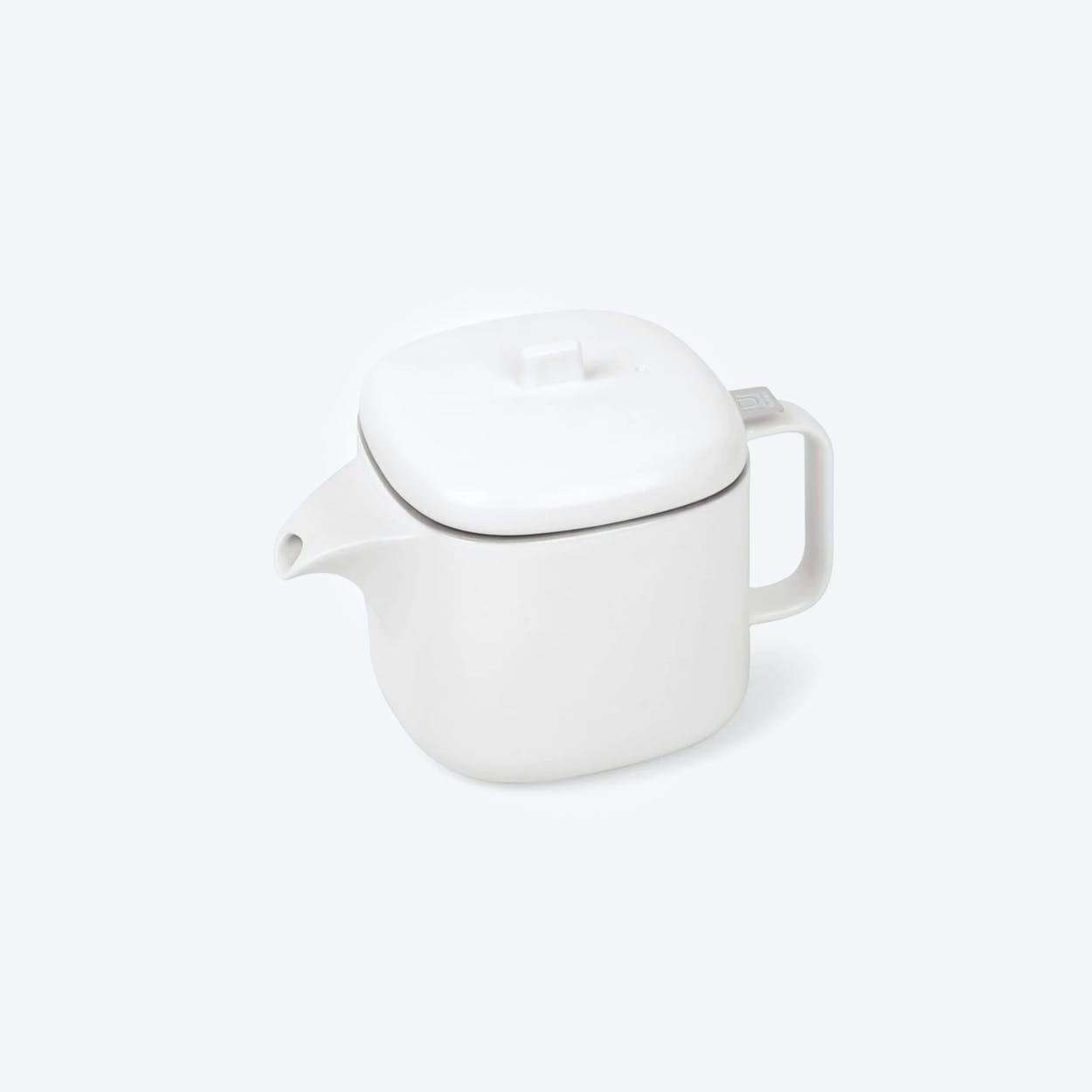 Cutea Teapot with Infuser in White