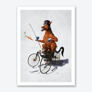 Horse Power (Wordless) Art Print