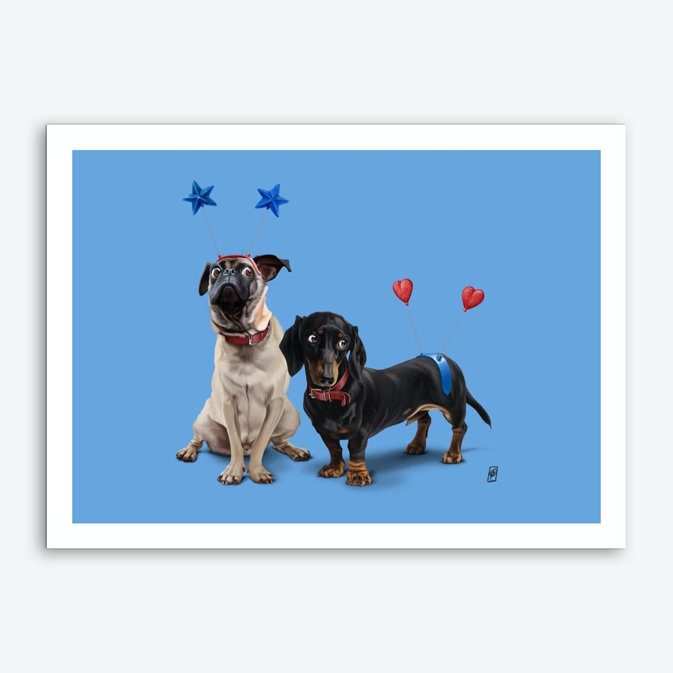 What's the Deely? (Colour) Art Print
