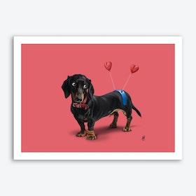 Butt (Colour) Art Print