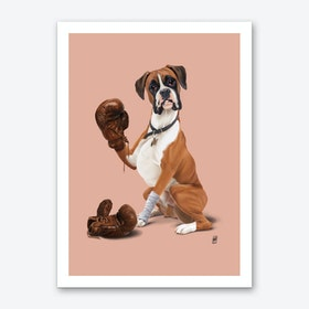 The Boxer (Colour) Art Print