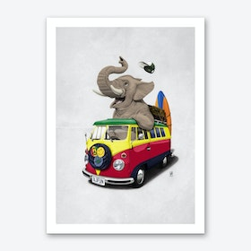 Pack the Trunk (Wordless) Art Print