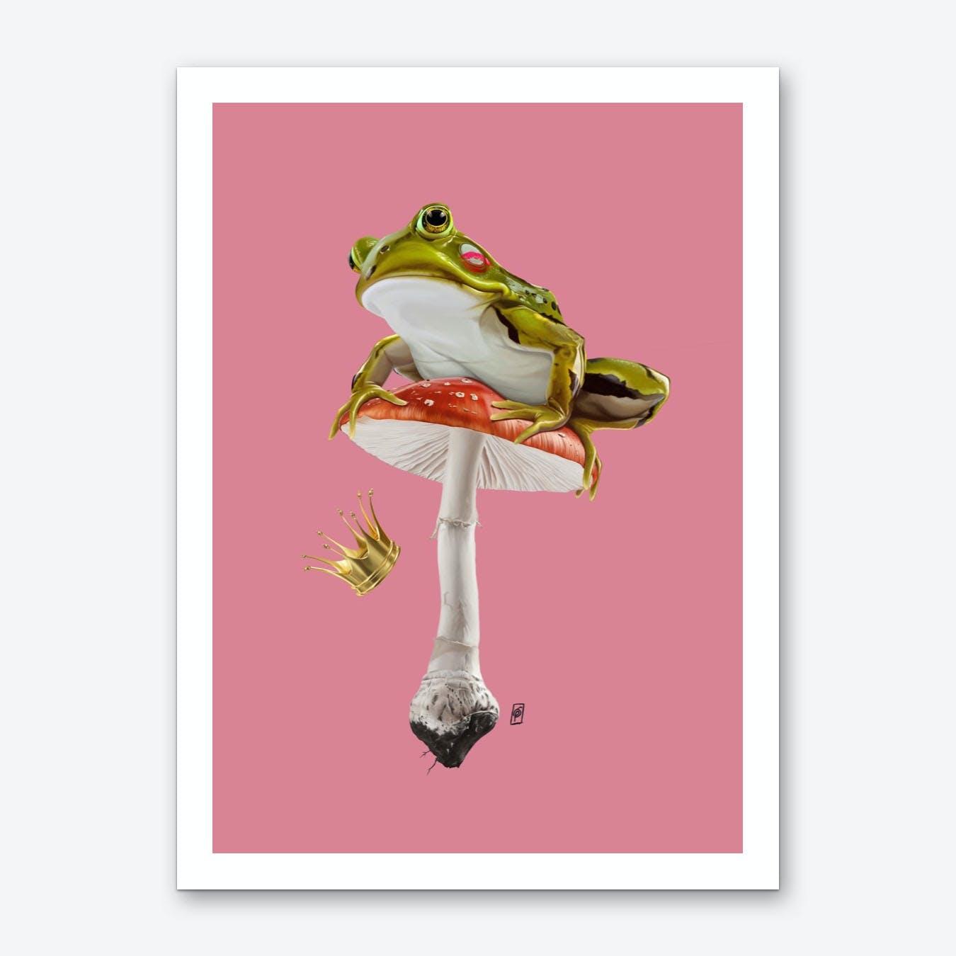 Kiss (Colour) Art Print