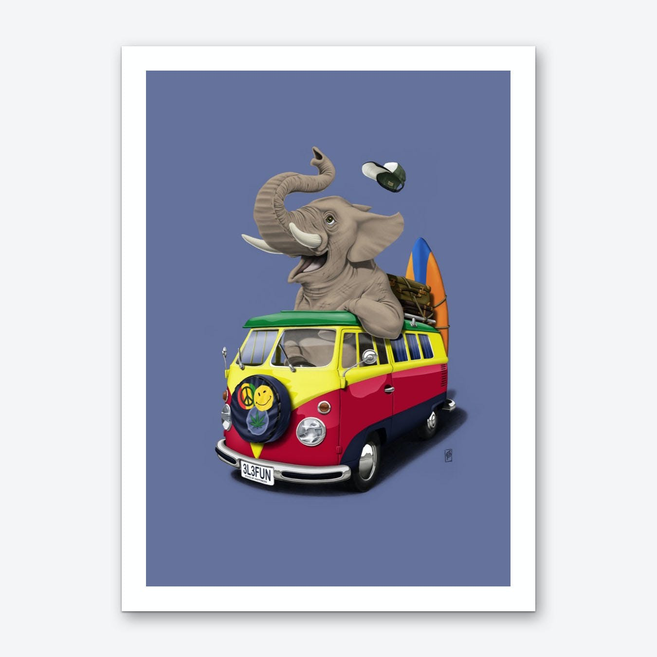 Pack the Trunk (Colour) Art Print