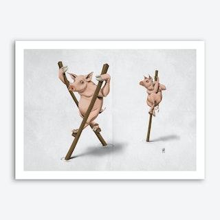 Stick in the Mud (Wordless) Art Print