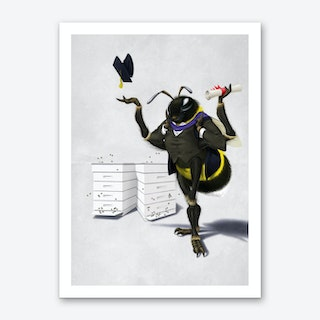 Too Bee or Not Too Bee (Wordless) Art Print