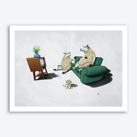 Sheep (Wordless) Art Print