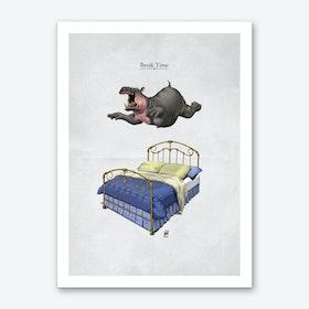 Break Time Art Print