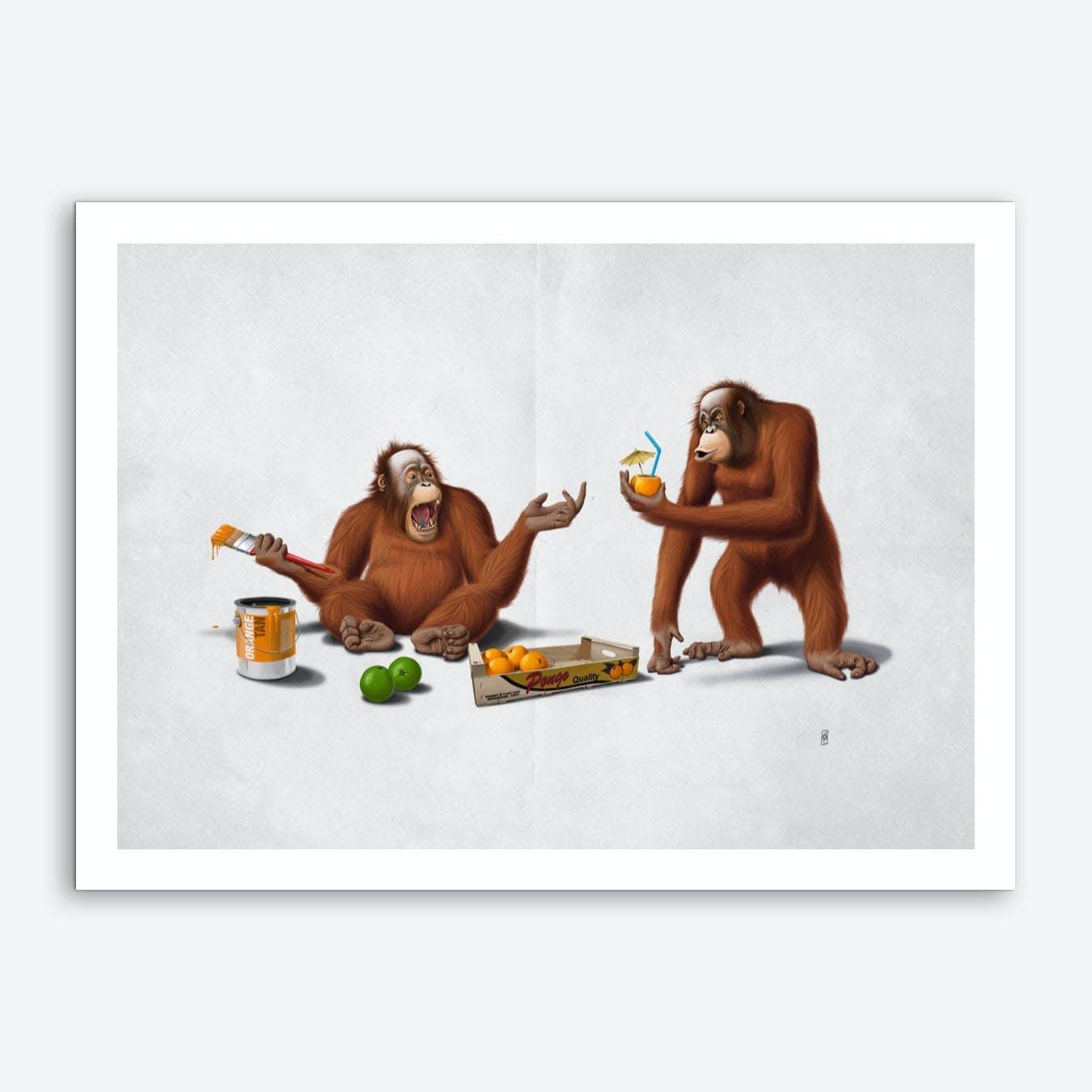 Orange Man (Wordless) Art Print