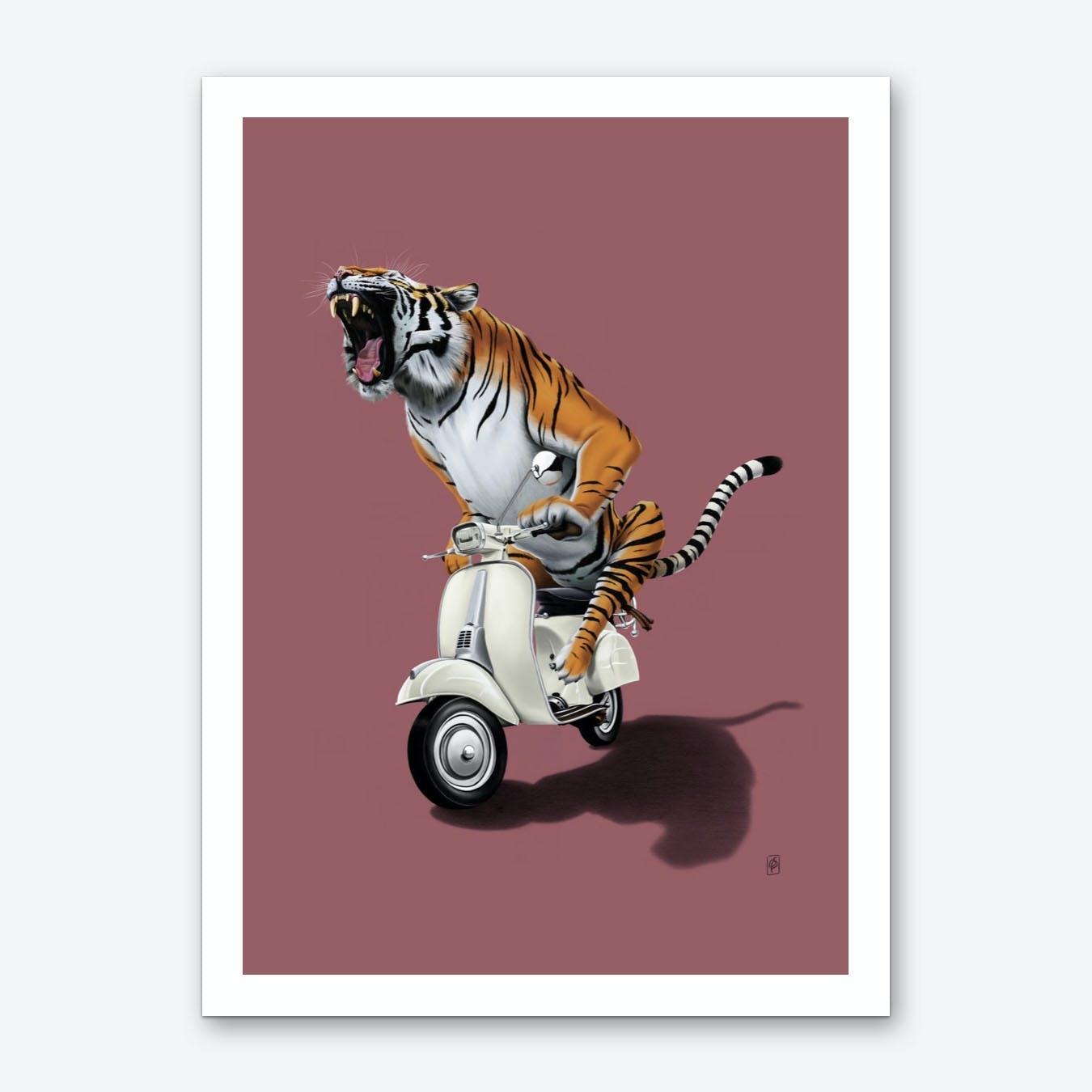 Rooooaaar! (Colour) Art Print