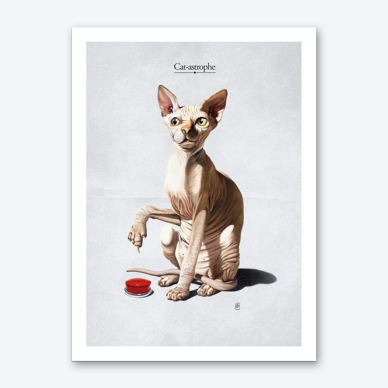 Cat-astrophe Art Print