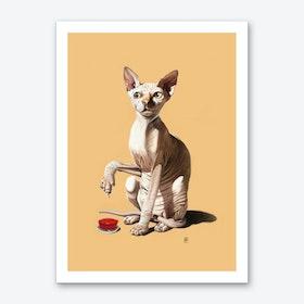 Cat-astrophe (Colour) Art Print
