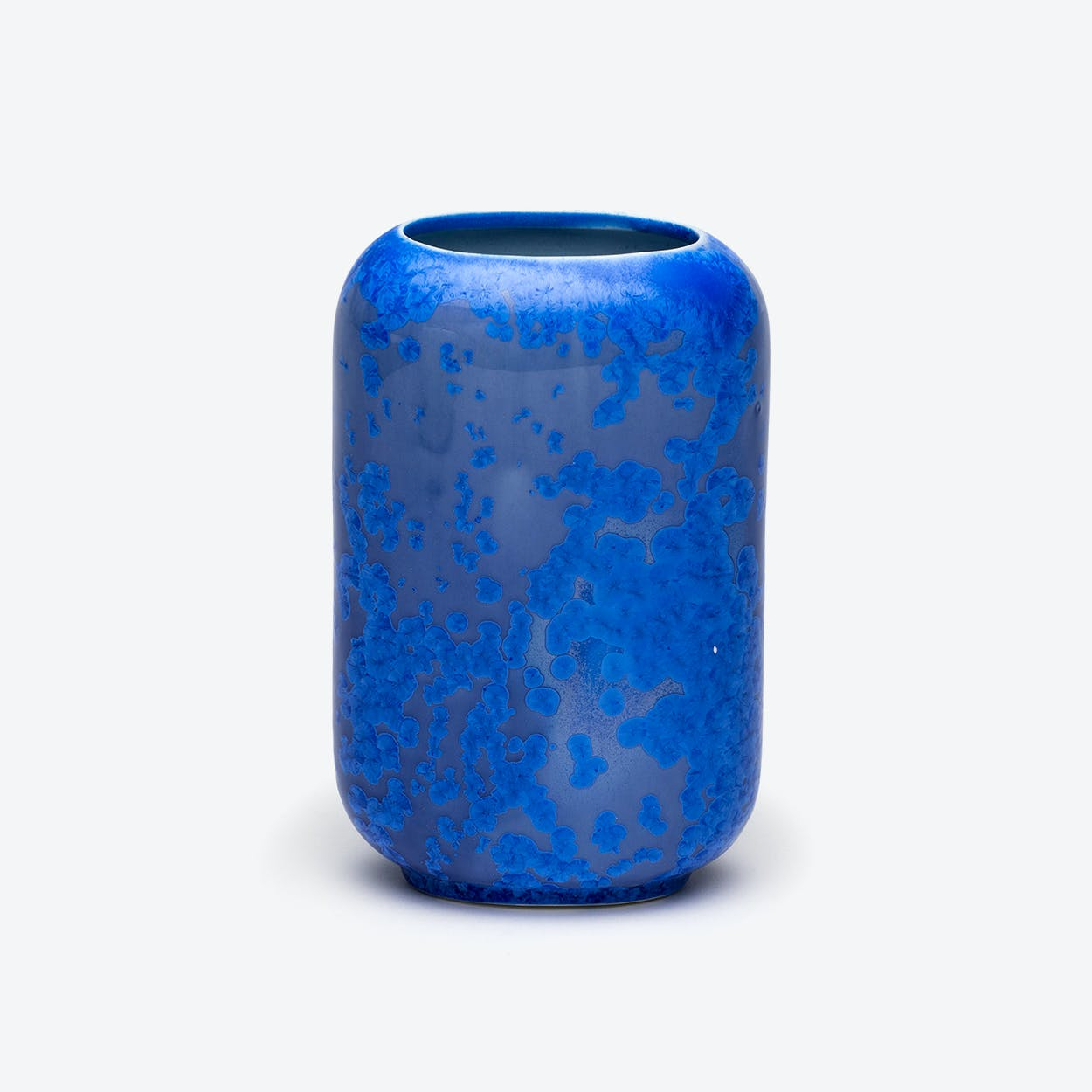 Porcelain Crystalline Vase - Sapphire