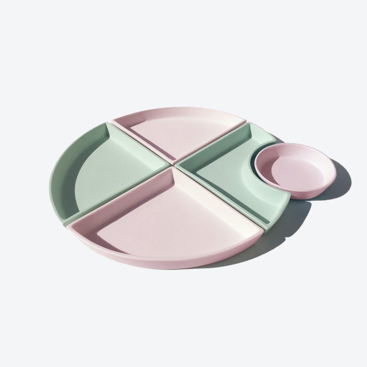 Porcelain Bento Set - Style 8 - Dual Tone