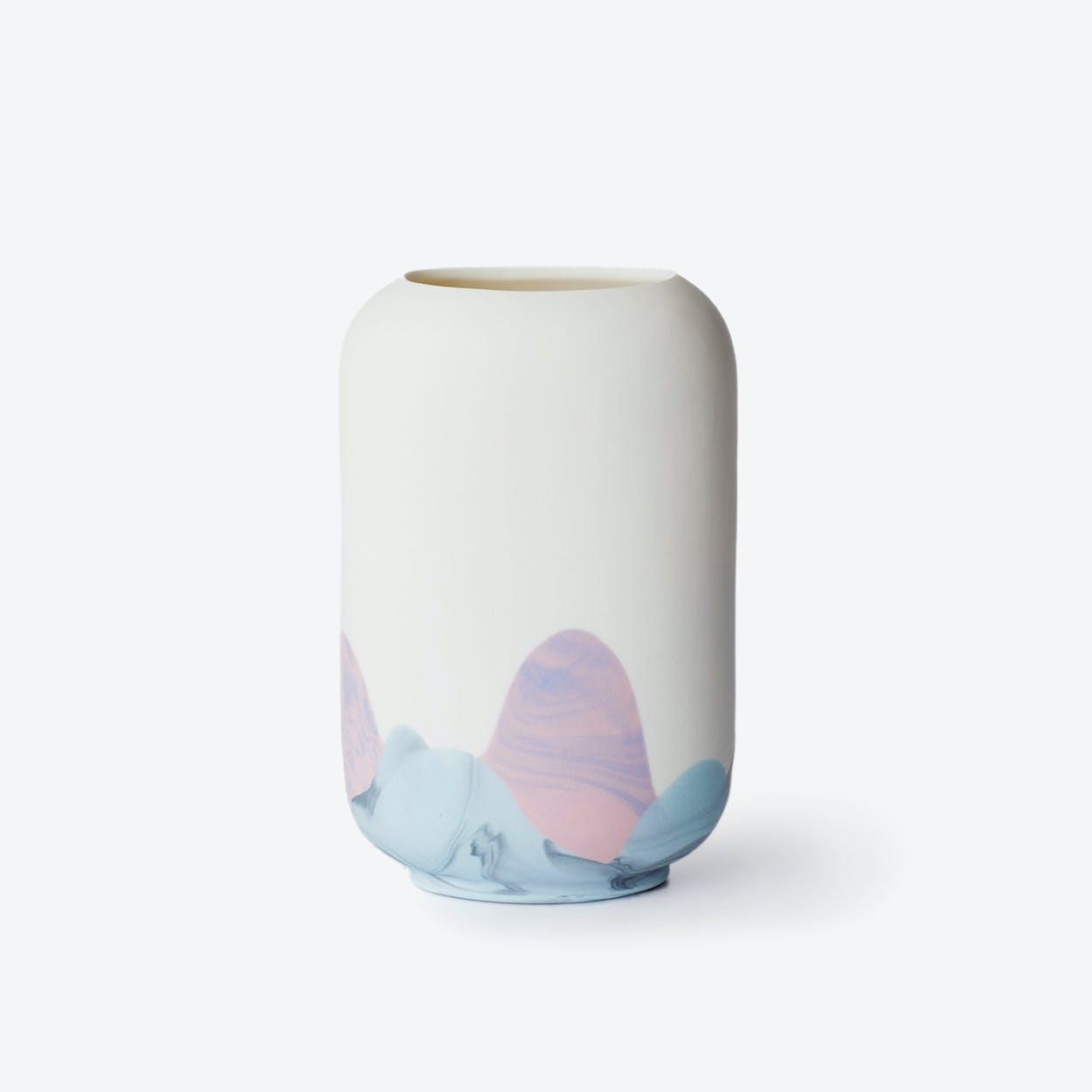 Porcelain Hong Kong Inspired Vase - Sheung Wan