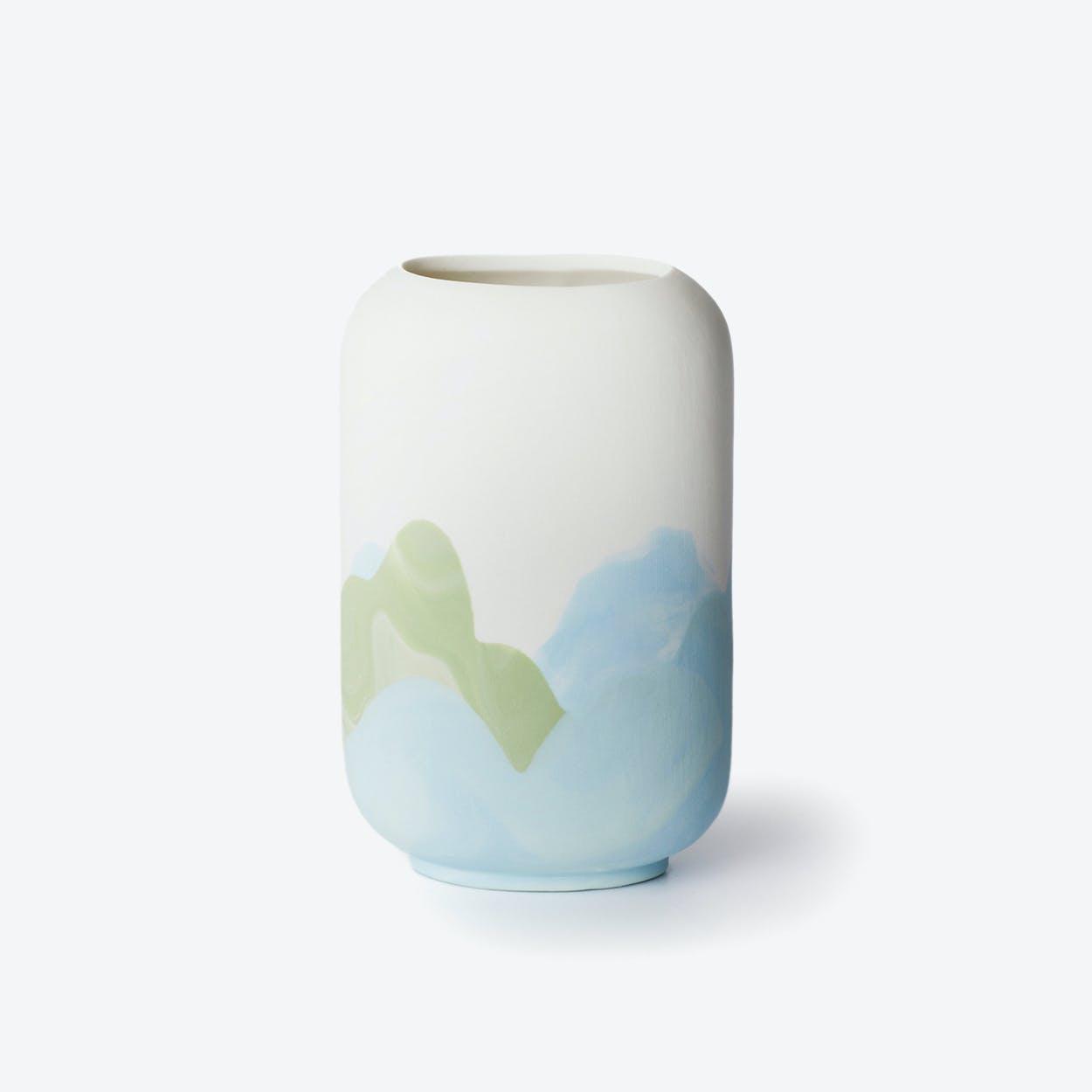 Porcelain Hong Kong Inspired Vase - Kennedy Town