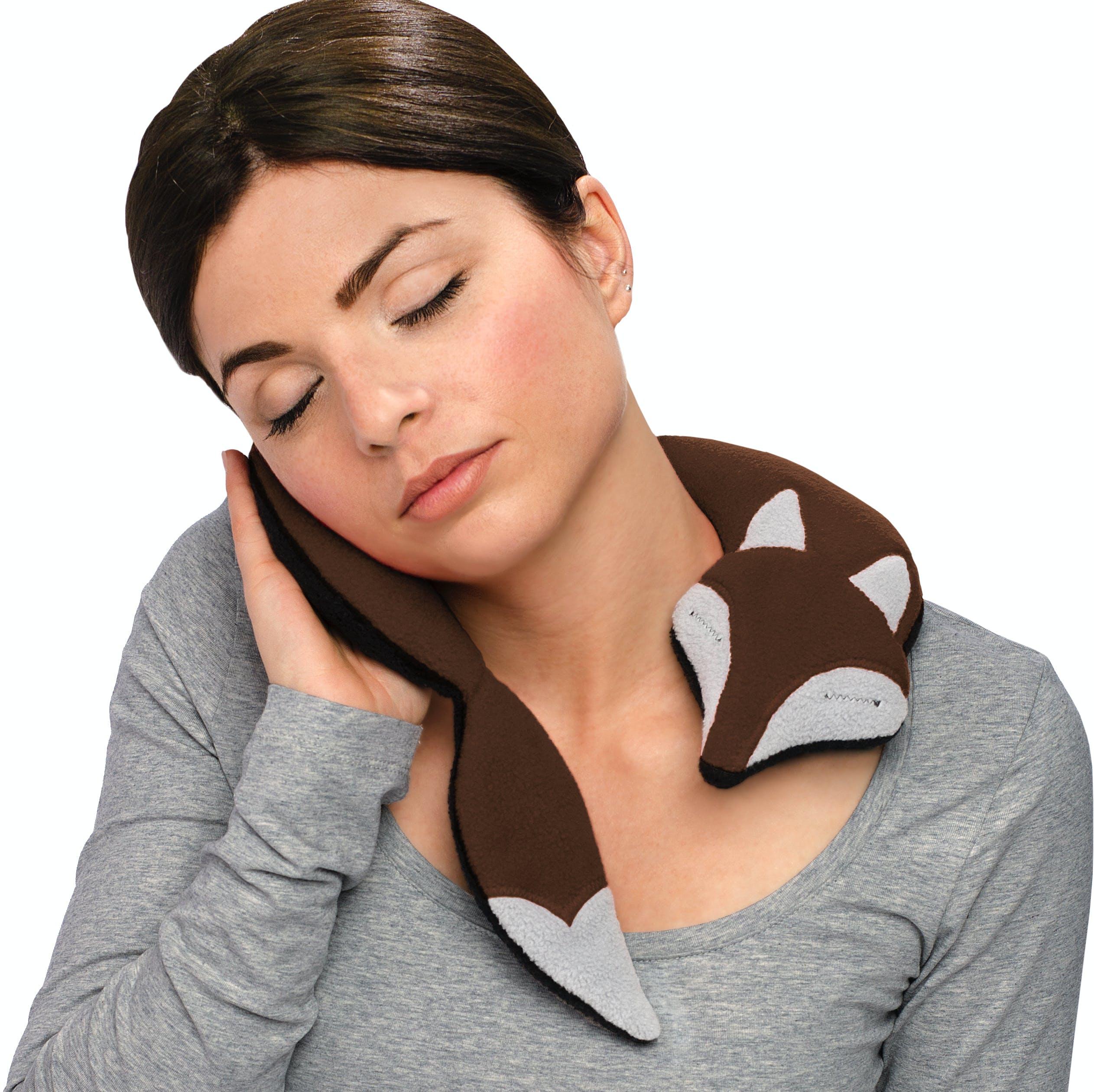 Warming Pillow, Noah The Fox in Dark Brown / Black