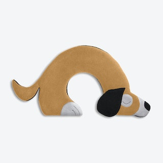 Warming Pillow, Bobby The Dog in Sand / Black