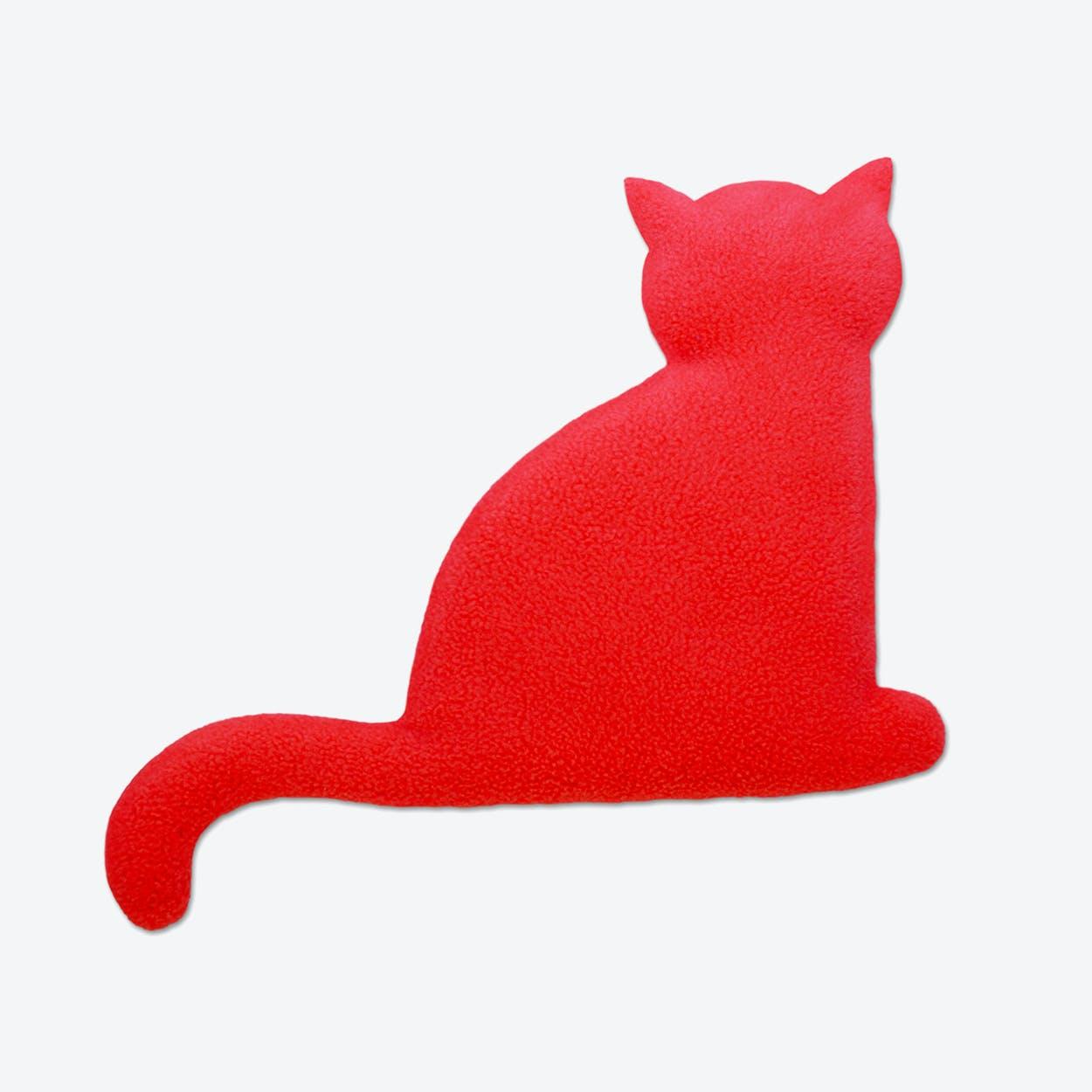 Warming Pillow, Minina The Cat, Sitting, Big in Red / Black