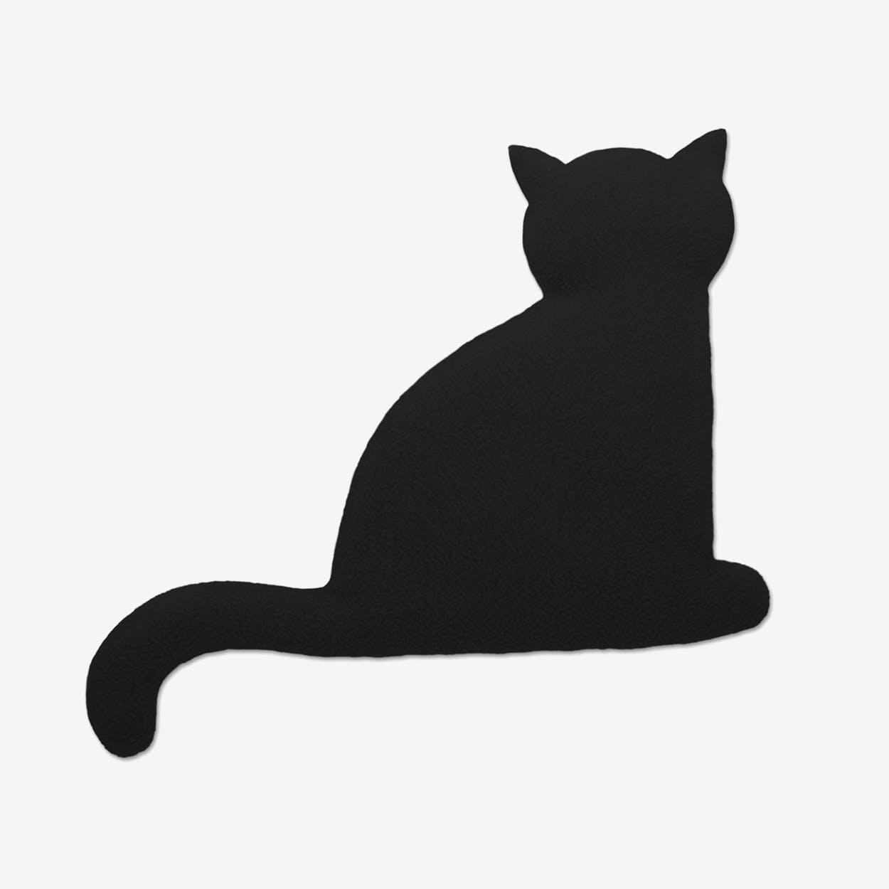 Warming Pillow, Minina The Cat, Sitting, Big in Black / Black