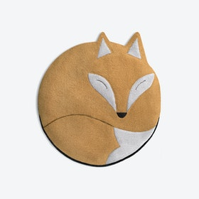 Warming Pillow, Luca The Fox in Sand / Black