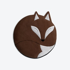Warming Pillow, Luca The Fox in Dark Brown / Black
