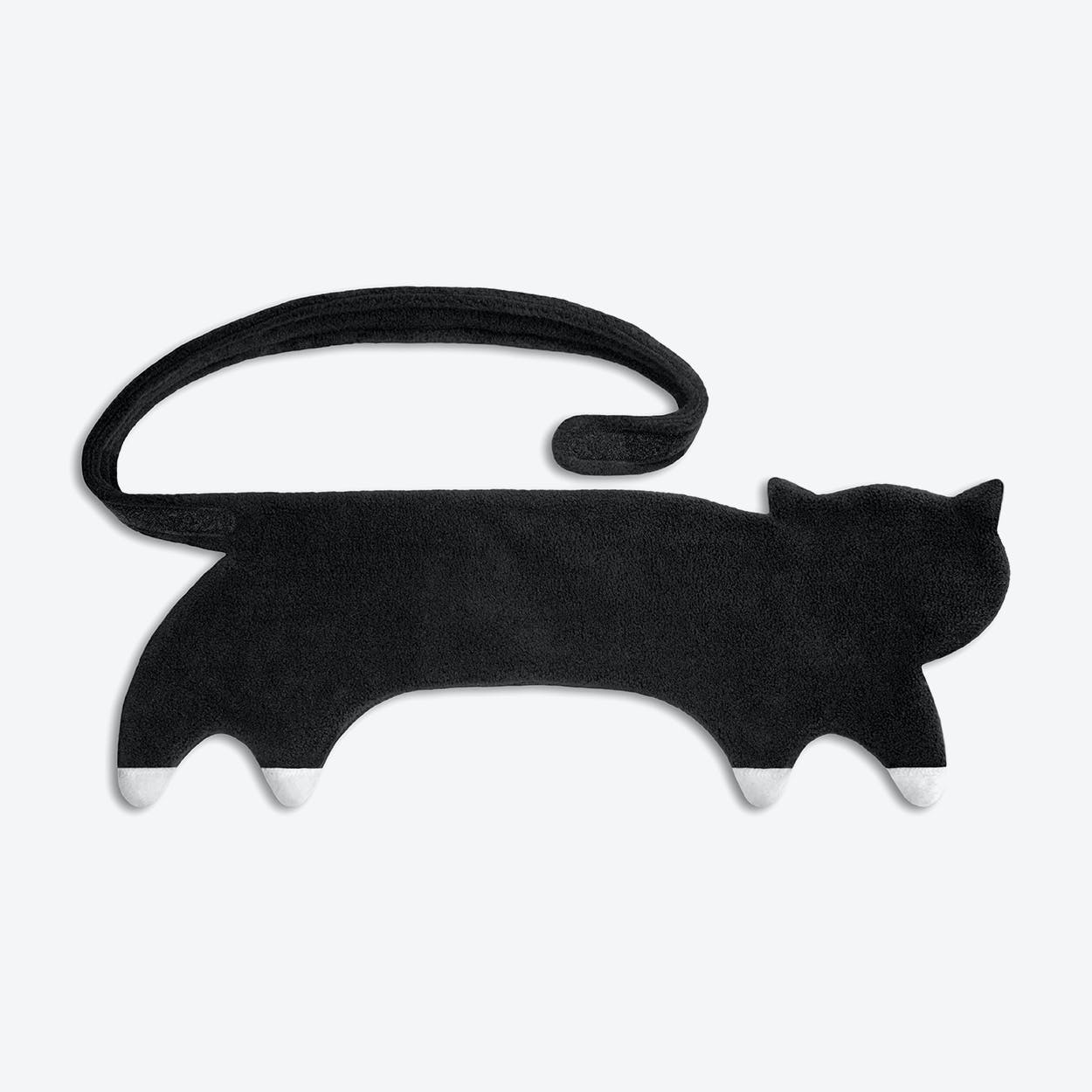Warming Pillow, Coco The Cat in Black / Black