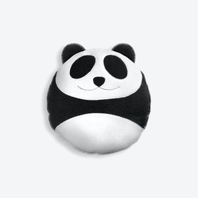 Cuddly Cushion, Wang the Panda, Small in Black/Black